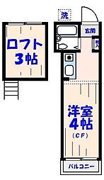 モア7[723号室]の間取り
