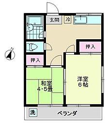 第二清華コーポ[2階]の間取り
