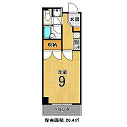京都府京都市伏見区深草西浦町8丁目の賃貸アパートの間取り