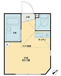 東京都立川市曙町2丁目の賃貸アパートの間取り