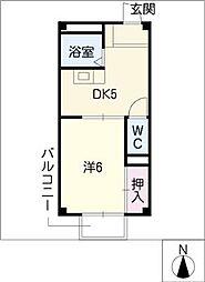 サクセスタウン岸岡B棟[1階]の間取り
