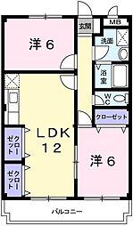 兵庫県姫路市継の賃貸マンションの間取り