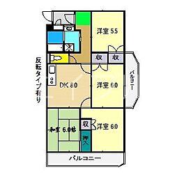 モイドープ和田[3階]の間取り