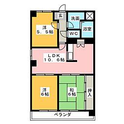 三重県四日市市久保田2丁目の賃貸マンションの間取り