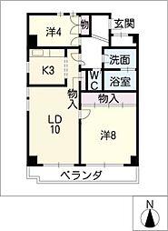 ヴェルドミールOKADA[4階]の間取り