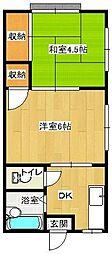 ハイツ山崎[B号室]の間取り