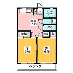 第1岐南ビル[3階]の間取り