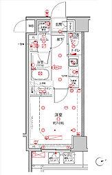 JR京浜東北・根岸線 王子駅 徒歩4分の賃貸マンション 4階1Kの間取り