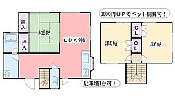 福岡県糸島市前原北2丁目の賃貸アパートの間取り
