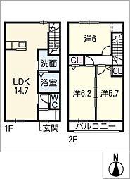 [タウンハウス] 愛知県碧南市篭田町2丁目 の賃貸【/】の間取り