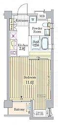 ガーデン原宿 4階1Kの間取り