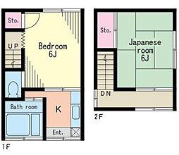 [テラスハウス] 神奈川県横浜市中区石川町3丁目 の賃貸【/】の間取り