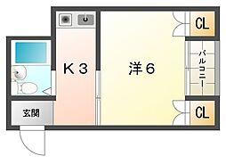 プチシャトー大和田[1階]の間取り