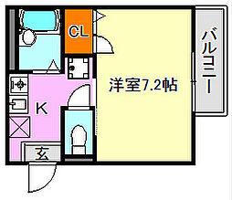 ピュアハイツGOTO[2階]の間取り