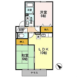フローラ湯川B棟[2階]の間取り