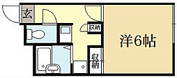 レオパレスドルフィン[2階]の間取り