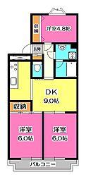 センチュリーマンション[2階]の間取り