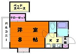 リバーサイド名島[2階]の間取り