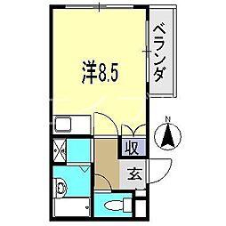 リバティハウスII[4階]の間取り