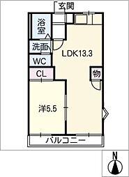 グリーンヒルズ113 B棟[2階]の間取り