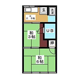 タモオカ荘[2階]の間取り