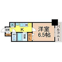 プレサンス名古屋STATIONアライブ[1406号室]の間取り