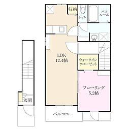 金の隈2丁目 新築アパート[2階]の間取り