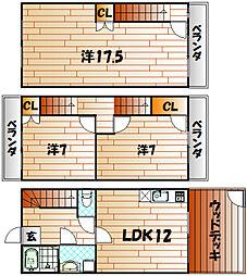 KBハウス壱番館[102号室]の間取り