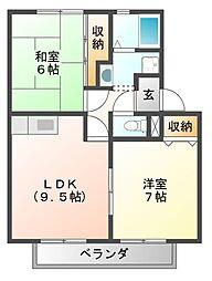 ALLEY島泉131[2階]の間取り