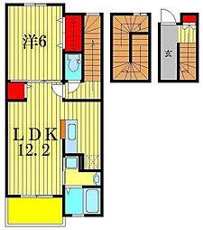 埼玉県三郷市新和1丁目の賃貸アパートの間取り
