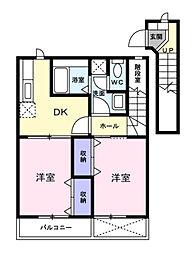 メゾン・ド・エスポワ−ル[2階]の間取り