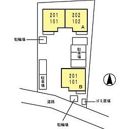 パレスセジュールA・B[A101号室]の外観