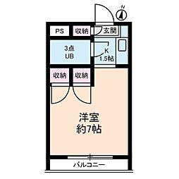 ブライトコート壱番館[3階]の間取り