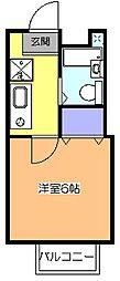 東京都小平市花小金井1丁目の賃貸アパートの間取り