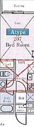 セレーノ原木中山[2階]の間取り