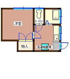 埼玉県川口市本町4丁目の賃貸アパートの間取り