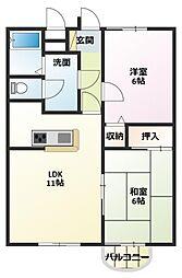メゾン山本[1階]の間取り