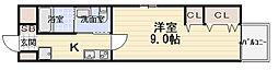 エルベコート太子橋駅前[506号室]の間取り