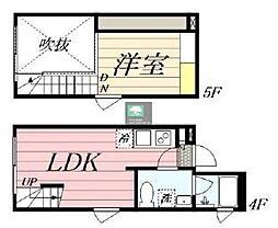 PASEO新宿3丁目2 4階1LDKの間取り
