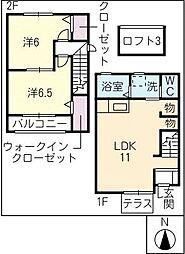 [タウンハウス] 岐阜県美濃加茂市中富町2丁目 の賃貸【/】の間取り