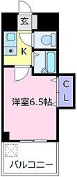 イーグルマンション 4階1Kの間取り