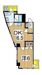 CITY COURT K1[305号室]の間取り