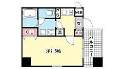 アスヴェル神戸元町[804号室]の間取り