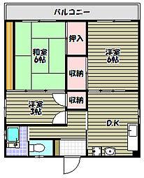A1マンション[3階]の間取り