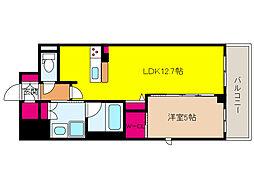 阪神本線 新在家駅 徒歩6分の賃貸マンション 4階1LDKの間取り