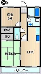 メイフェア—鹿島田No.5[1階]の間取り