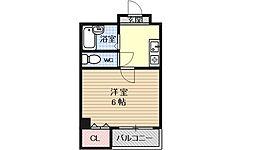サンロイヤル大宮[201号室号室]の間取り