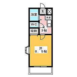 SUNNY PLACE妙興寺[2階]の間取り