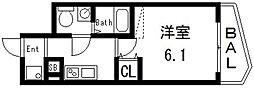 セレニテ高井田[702号室号室]の間取り