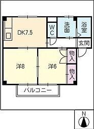 コーポ倉屋敷[2階]の間取り